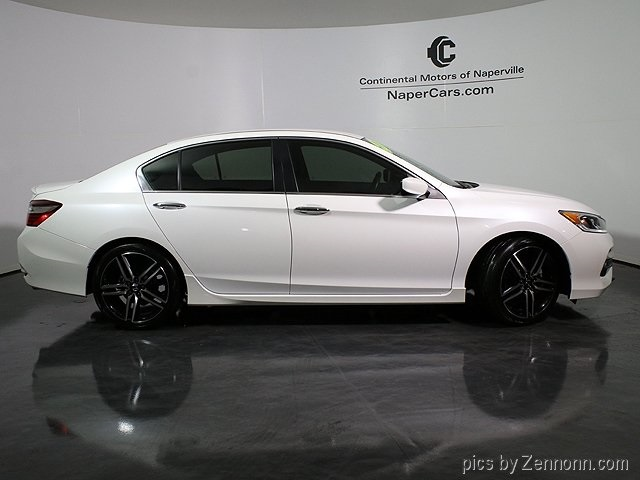 pre owned 2016 honda accord sport 4d sedan in naperville 1p7455 continental mazda of naperville. Black Bedroom Furniture Sets. Home Design Ideas
